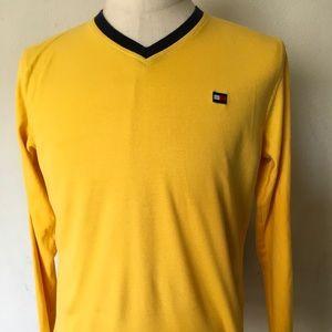 Tommy Hilfiger XL Yellow Long sleeves cotton shirt
